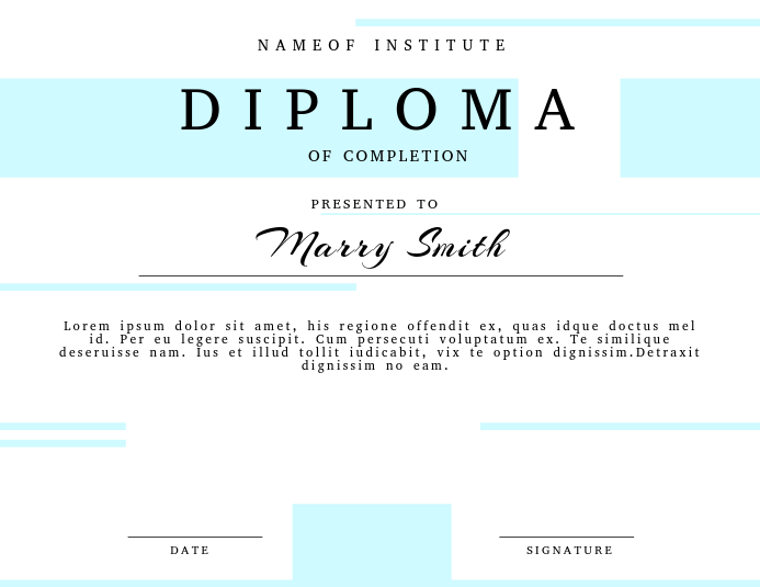 Graduation Diploma Certificate Template PosterMyWall