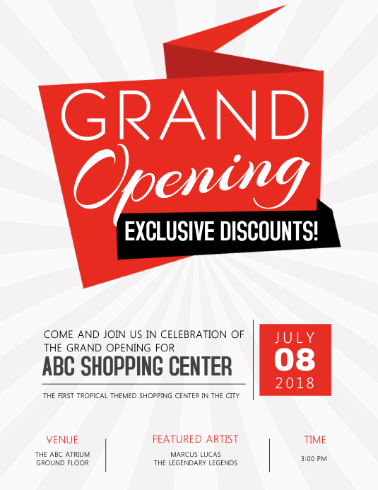 Grand Opening Flyer Template PosterMyWall