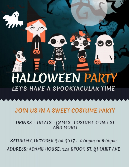 Halloween Costume Party Flyer Template PosterMyWall