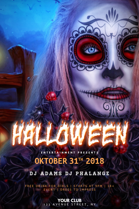 Halloween Zombie Party Flyer Template PosterMyWall