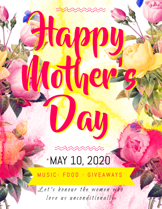 Happy Mother\u0027s Day Flyer Template PosterMyWall