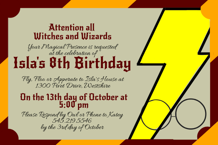 Harry Potter Invitation Template PosterMyWall