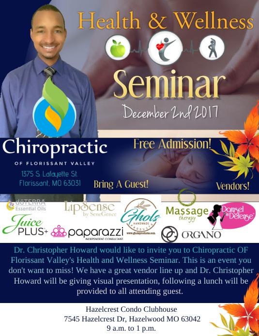 Health  Wellness Seminar Template PosterMyWall
