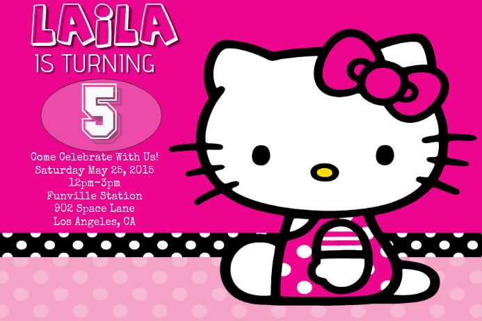 High Resolution Fall Wallpaper Hello Kitty Birthday Template Postermywall