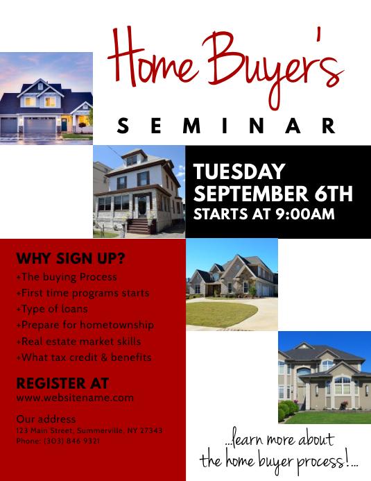 Home Buyer\u0027s Seminar Flyer Template PosterMyWall