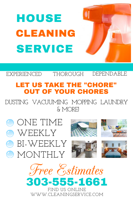 house cleaning flyer templates - Goalgoodwinmetals