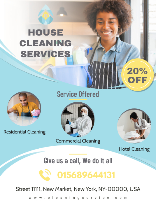 Professional House Cleaning Service Flyer Template PosterMyWall