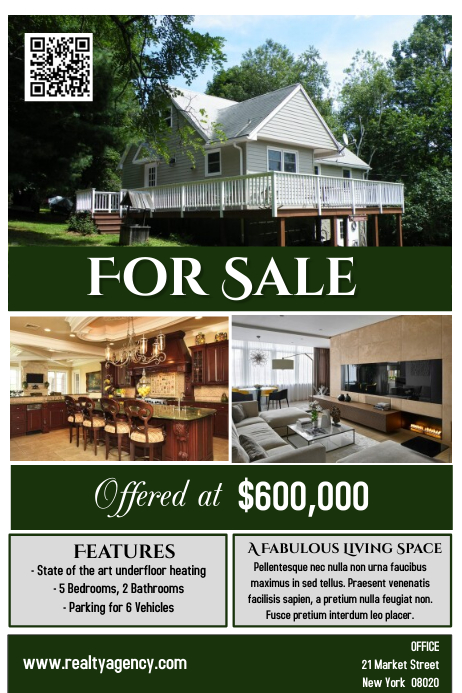 House for Sale Flyer Poster Real Estate Template PosterMyWall