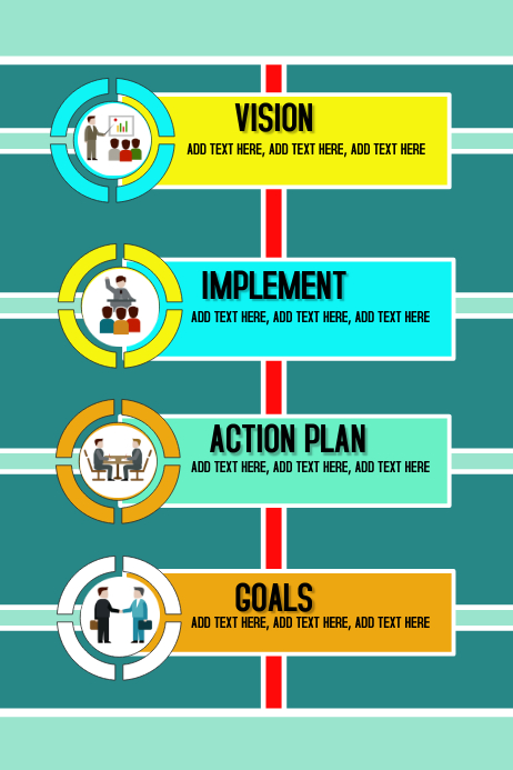 infographics business plan mission Template PosterMyWall