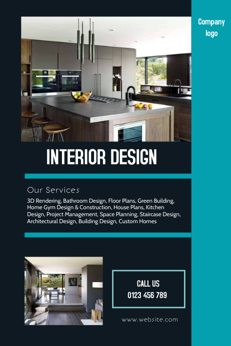 Interior Design Flyer Template PosterMyWall