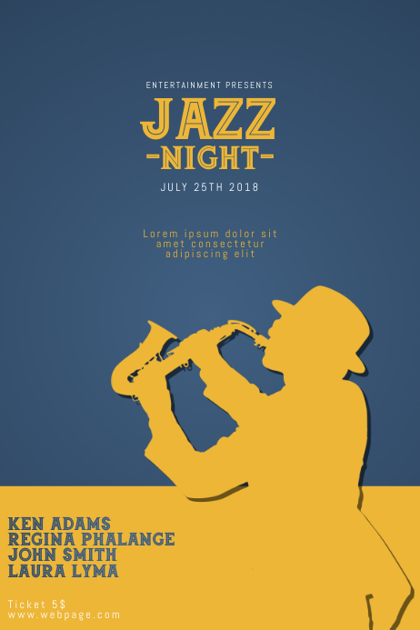 Jazz Concert Flyer Template PosterMyWall