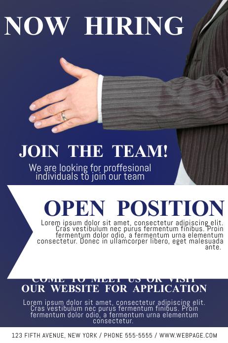 flyer job - Gottayotti - hiring flyers template