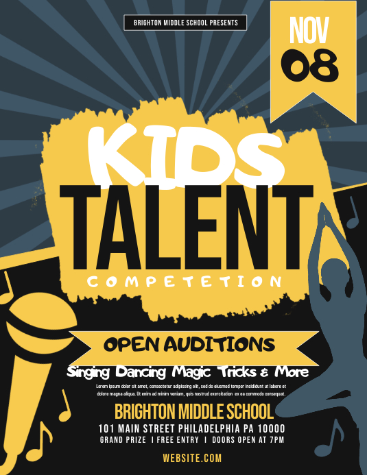 kids talent show Template PosterMyWall