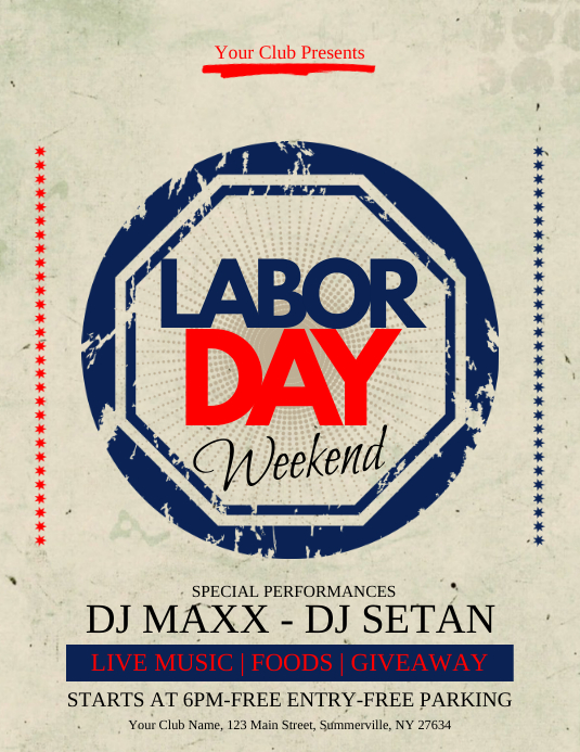 Labor Day Flyer Template PosterMyWall
