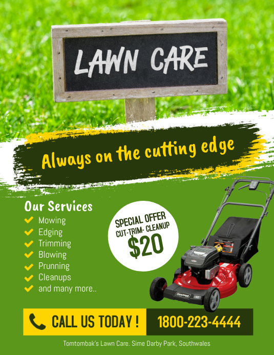Lawn Care Services Flyer Poster Template PosterMyWall