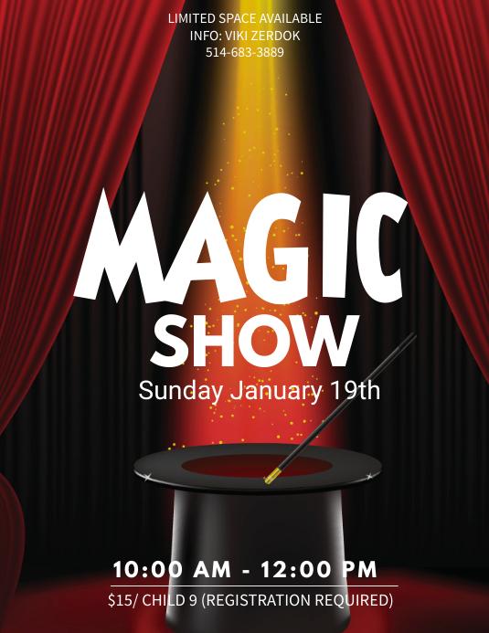 magic show flyers templates free - Hizlirapidlaunch - talent show flyer
