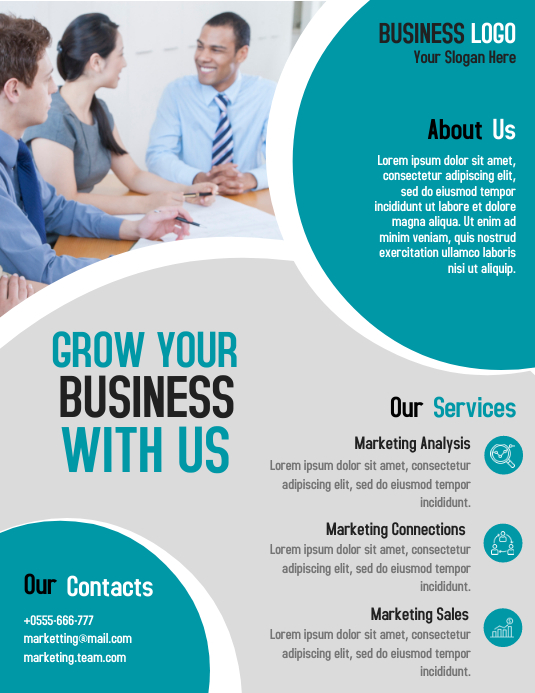 Marketing business consultant flyer template design PosterMyWall