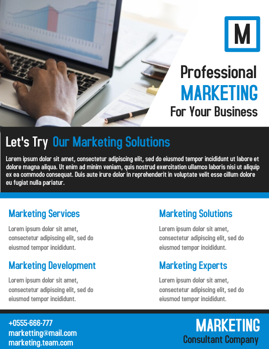 Marketing Business Flyer Template Design PosterMyWall