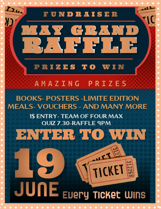 May Grand Raffle Flyer Template PosterMyWall