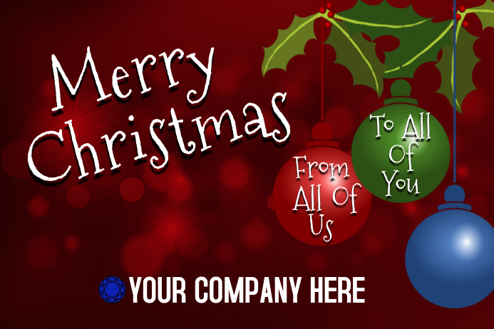 Merry Christmas Banner Template PosterMyWall
