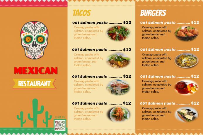 mexican restaurant menu template - Ozilalmanoof - a la carte menu template