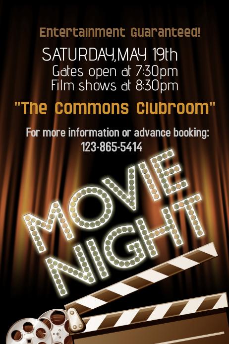 movie night poster template - Boatjeremyeaton
