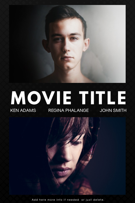 Movie Poster Template for free PosterMyWall
