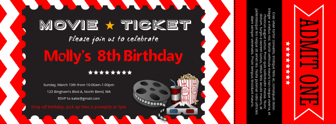 Movie Ticket Template PosterMyWall