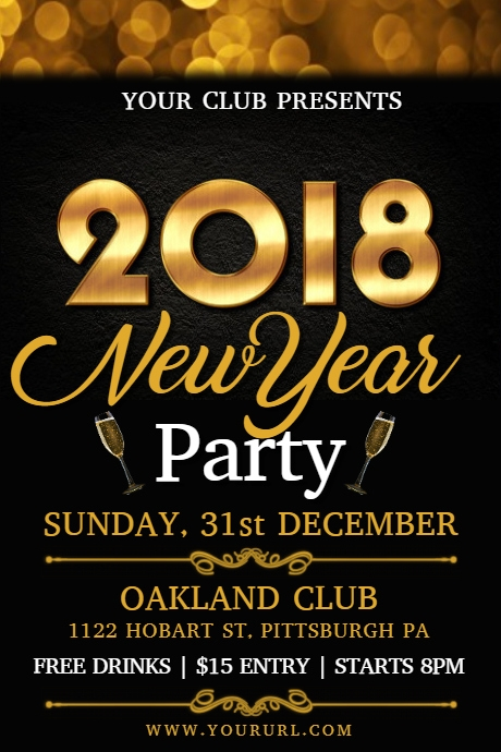 New Year Party Flyer Template PosterMyWall