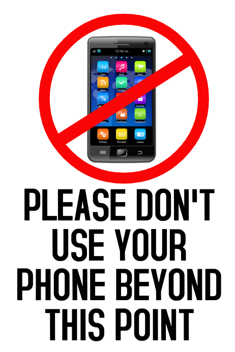 No Mobiles Cell Phones Template PosterMyWall