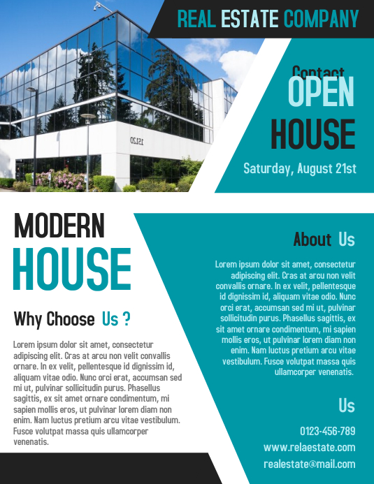Open House Real Estate Business Flyer and Poster Template PosterMyWall