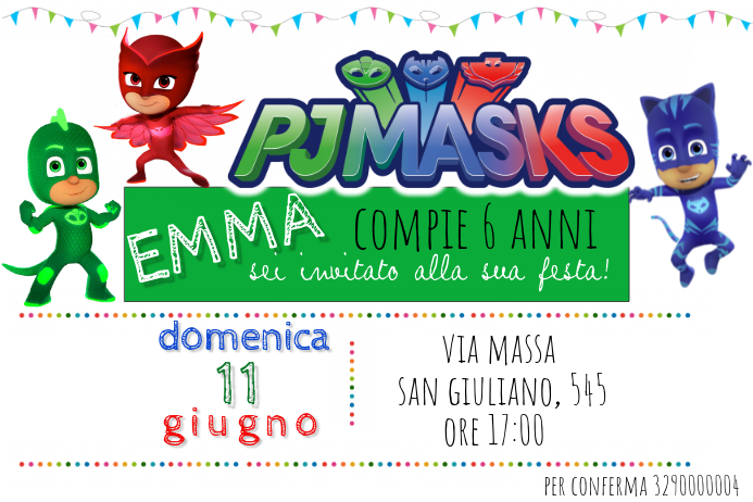 PJ Masks Birthday Invitation Template PosterMyWall