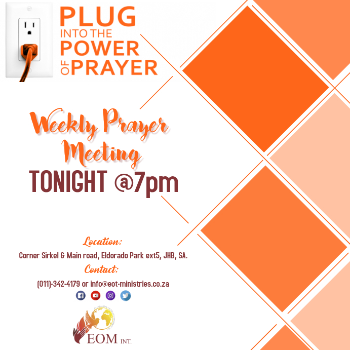 Prayer Meeting service Template PosterMyWall
