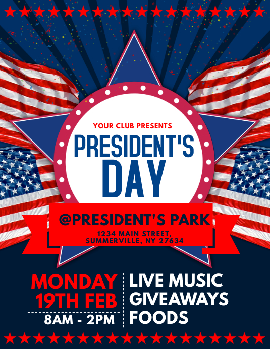 President\u0027s Day Flyer Template PosterMyWall
