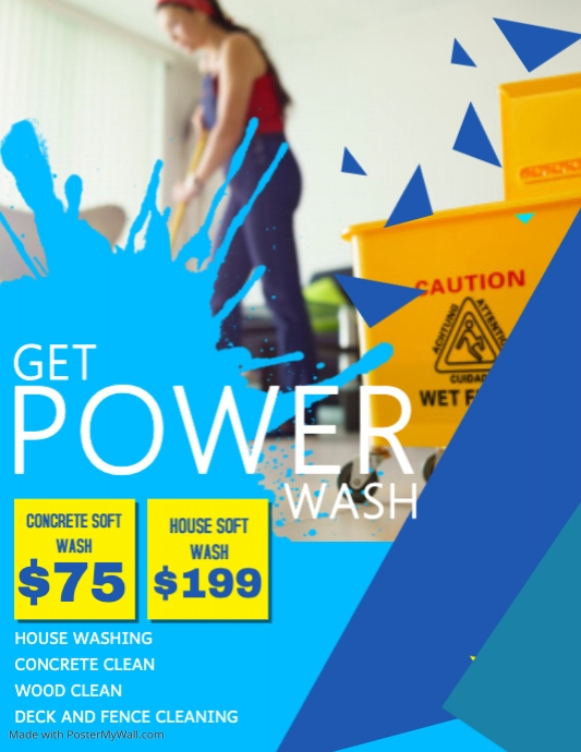Professional Power Wash Flyer Template PosterMyWall