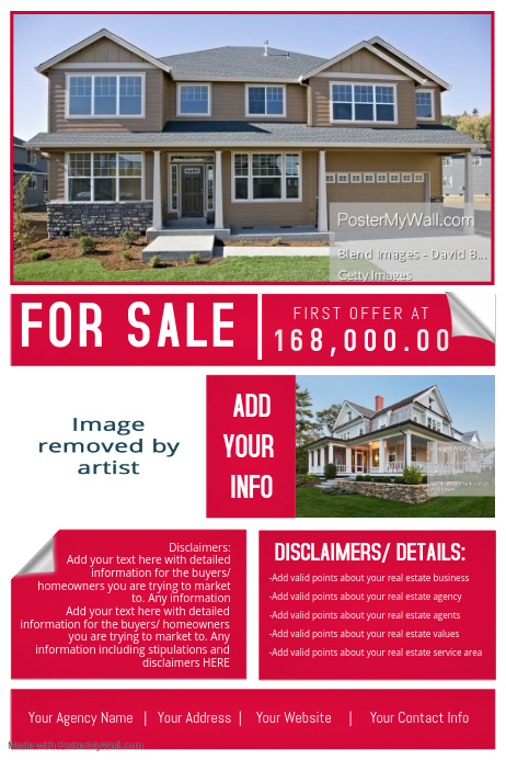 Real Estate Agency House Sale Retail Ad Marketing Auction Template