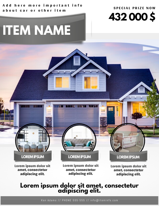 real estate house home selling advertising flyer template PosterMyWall