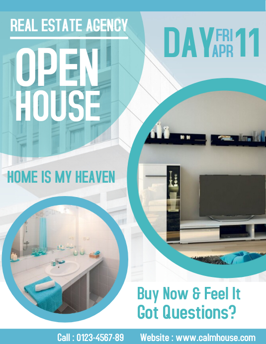 Real Estate Open House Flyer Advertisement Template PosterMyWall