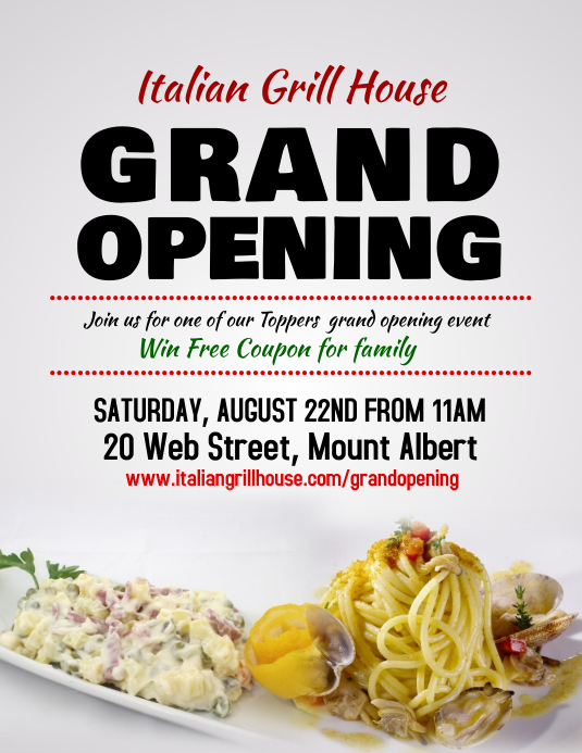 Restaurant Grand Opening Flyer Template PosterMyWall