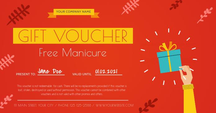 Salon Gift Voucher Template PosterMyWall