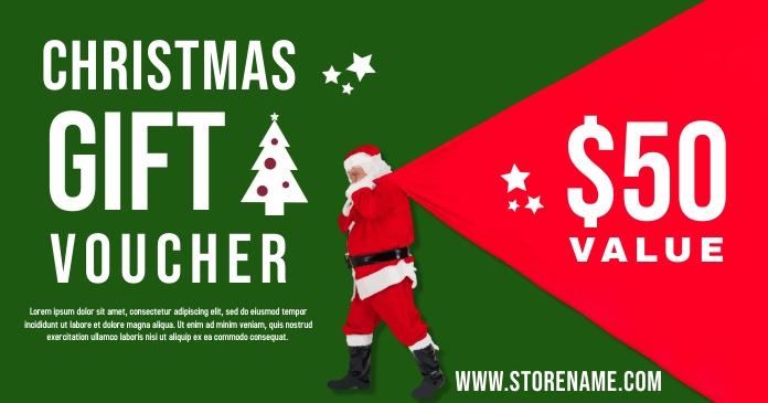 Santa Christmas Gift Voucher Template PosterMyWall