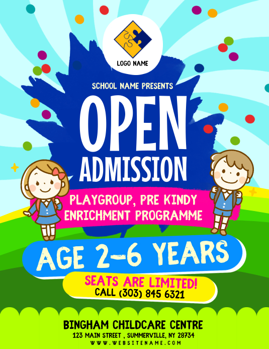 School Admission Flyer Template PosterMyWall