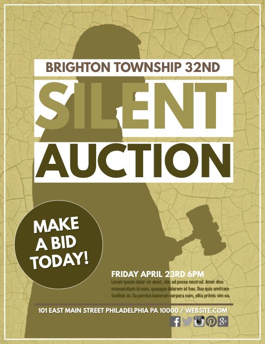 auction flyer template free - Apmayssconstruction