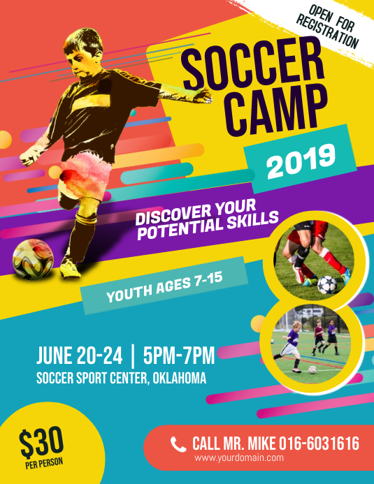 Soccer Camp Flyer Template PosterMyWall
