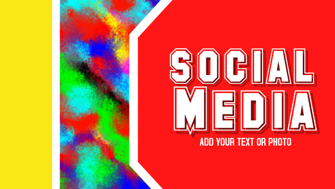 Social Media, Facebook, Header Title Template PosterMyWall