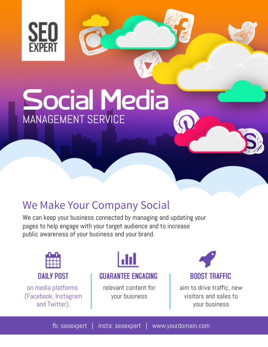 Social Media Business Marketing Flyer Poster Template PosterMyWall