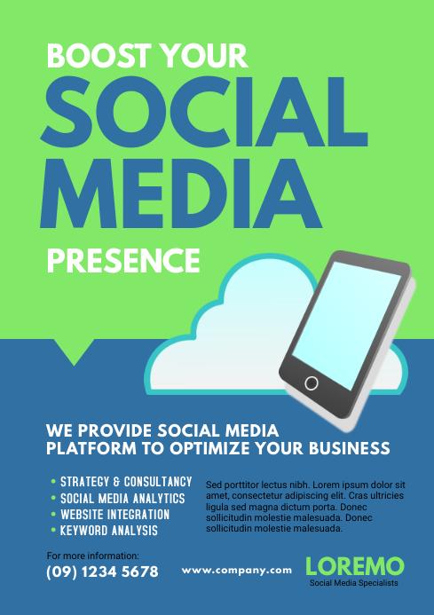 Social Media Marketing Flyer Template PosterMyWall