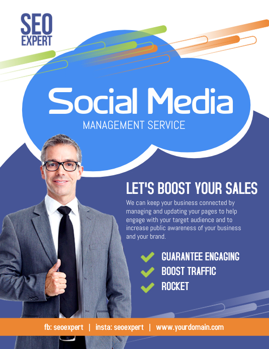 Social Media Marketing Services Flyer Template PosterMyWall
