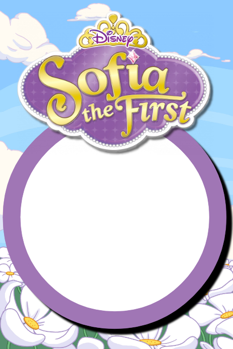 Sofia The First Party Prop Frame Template PosterMyWall