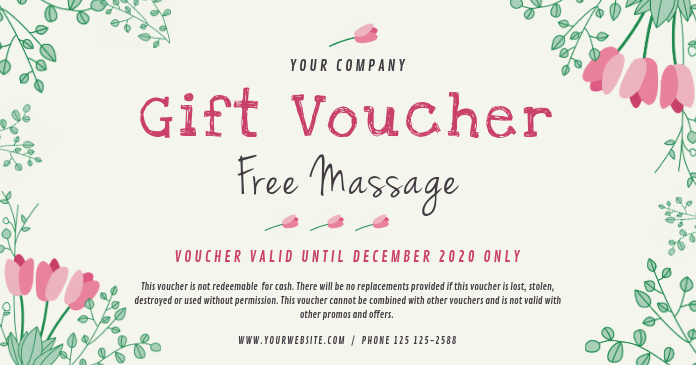 Spa Gift Voucher Template PosterMyWall